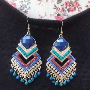 Beaded Party Festive Earrings